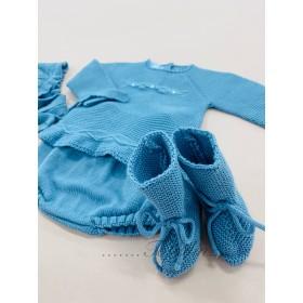 de 1m a 6a rebeca hilo-algodón corta